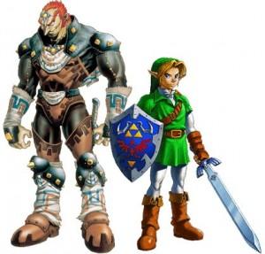 Link & Ganondorf em Ocarina of Time (Foto: Divulgação)
