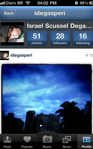 Instagram (Foto: Reprodução/Israel Scussel)