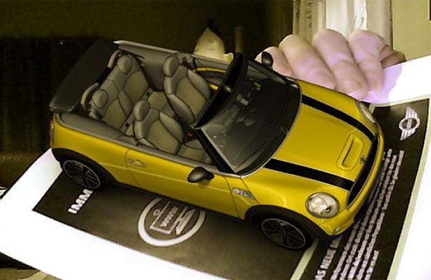 Realidade Aumentada do Mini Cabrio em ação (Foto: Reprodução)