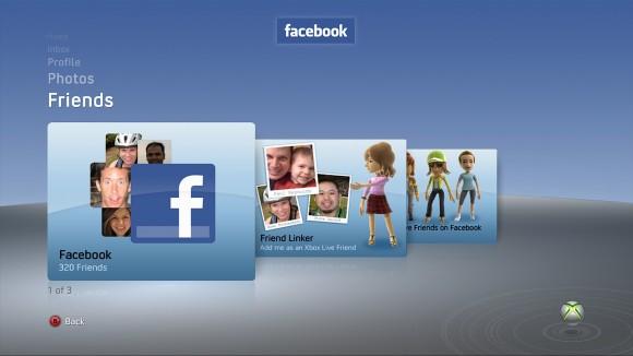 Facebook no Xbox 360 (Foto: Divulgação)
