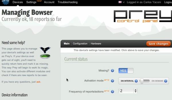 Acesse o site para ativar o agente de busca (Foto: Reprodução)