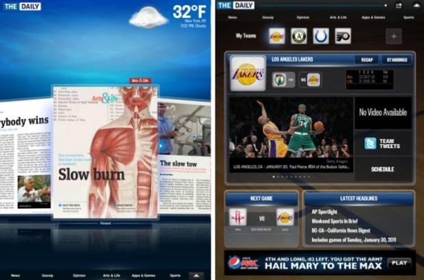 The Daily para iPad (Foto: Reprodução)