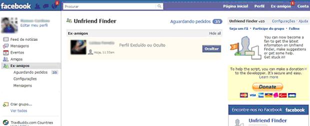 Unfriend Finder (Foto: Reprodução/TechTudo)