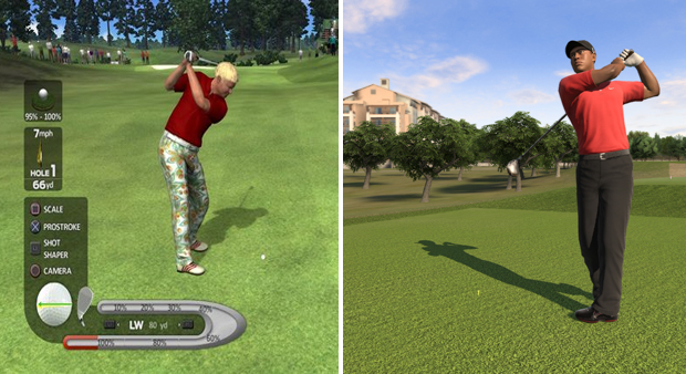 John Daly's Prostroke Golf   vs. Tiger Woods PGA Tour 12