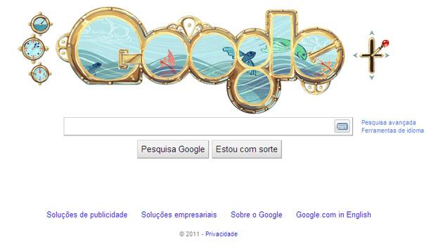Homenagem do Google a Julio Verne (Foto: Divulgação)