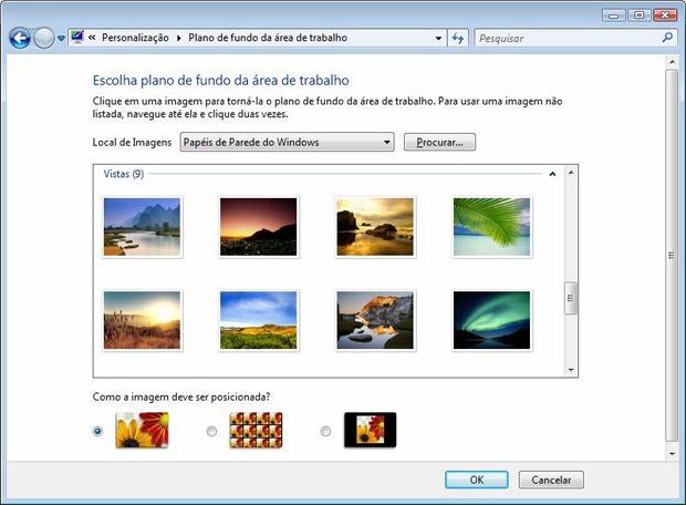 Painel de plano de fundo da área de trabalho do Windows  (Foto: Reprodução)