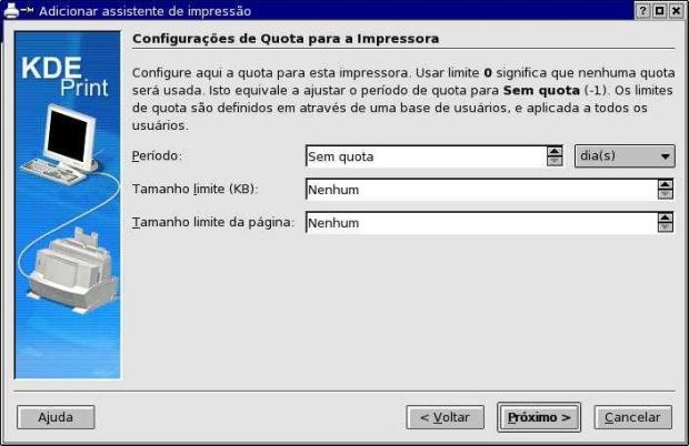 Configurando uma impressora com o assistente do KDE (Foto: Reprodução)