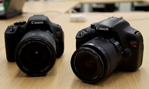 Os lançamentos da Canon, as Rebels T3 e T3i. (Foto: Divulgação)