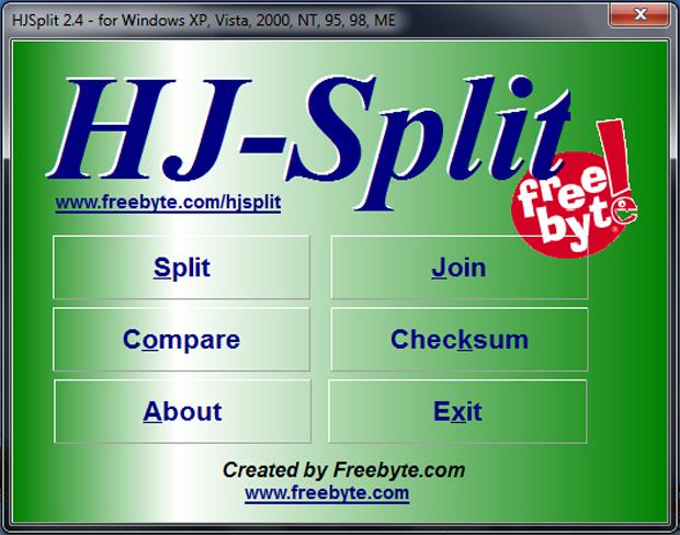 Tela inicial de HJ-Split (Foto: Reprodução/TechTudo)
