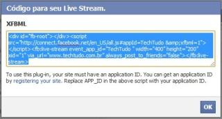 Copie o código fornecido pelo Facebook (Foto: Reprodução/Camila Porto)