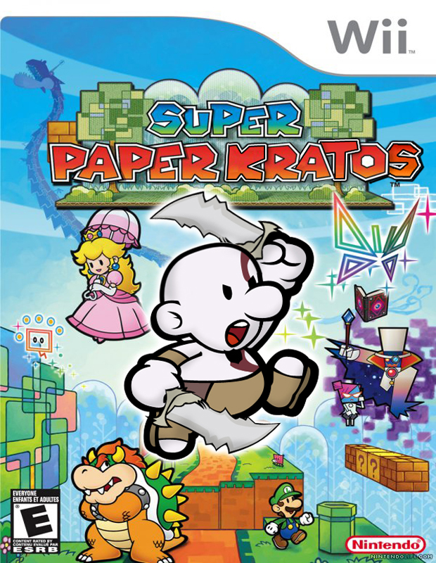 Se você nunca se cortou com papel, chegou Super Paper Kratos (Foto: Divulgação)