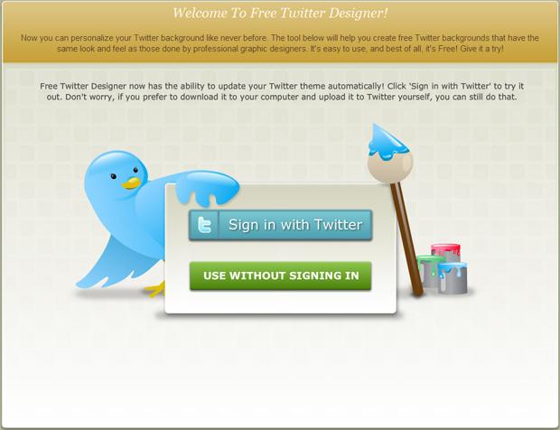 Free Twitter Designer (Foto: Reprodução/TechTudo)
