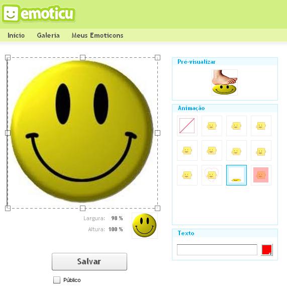 Criando emoticons (Foto: Reprodução/TechTudo)