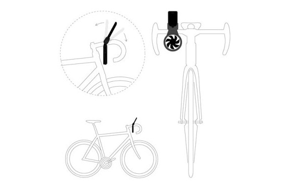 iFan acoplado na bicicleta (Foto: Reprodução)