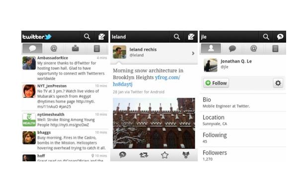 Novo visual do Twitter para Android (Foto: Divulgação)