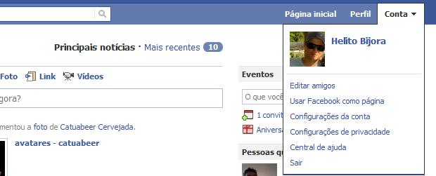 Facebook (Foto: Reprodução/Helito Bijora)