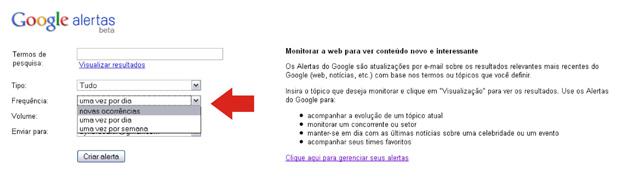 Procurando vagas de trabalho usando o Google Alerts