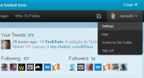 Configurações de plano de fundo e foto do perfil do Twitter (Foto: Reprodução/TechTudo)