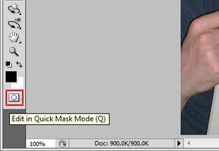 Edit in Quick Mask Mode (Q) (Foto: Reprodução/TechTudo)
