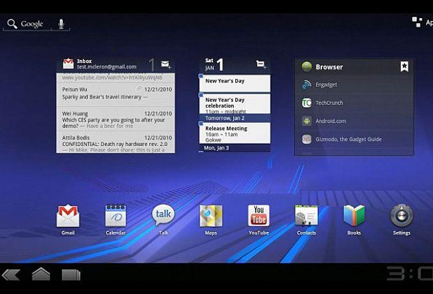 Android 3.0 Honeycomb (Foto: Reprodução)