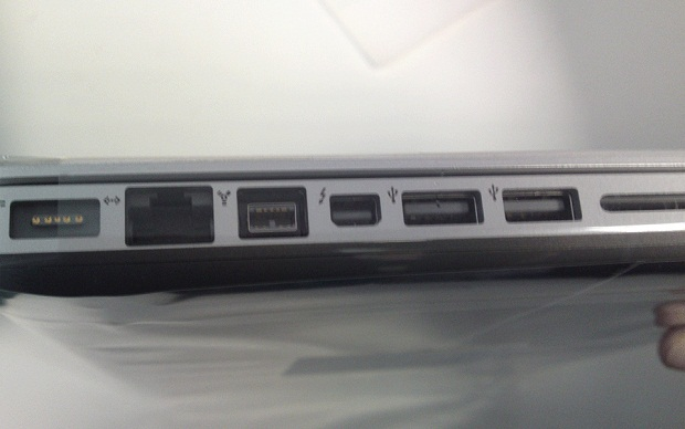 MacBook Pro com entrada Light Peak / Thunderbolt (Foto: Olivier Charavel)