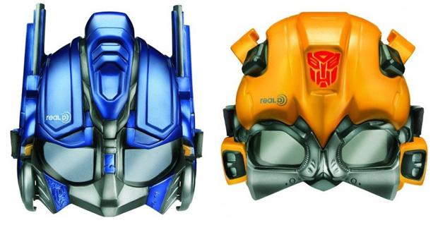 As máscaras de Transformers (Foto: Divulgação)