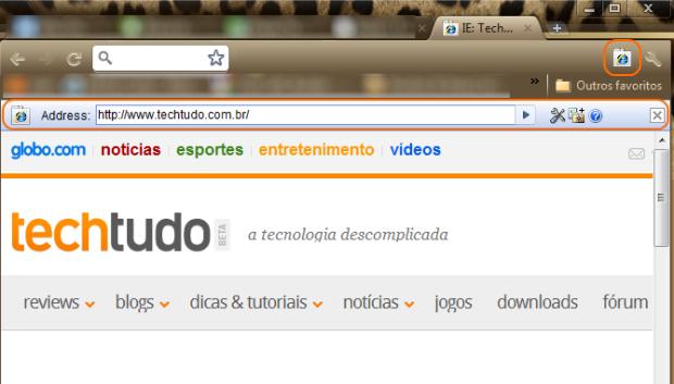 Digite a URL na barra de endereço (Foto: Reprodução/Camila Porto)