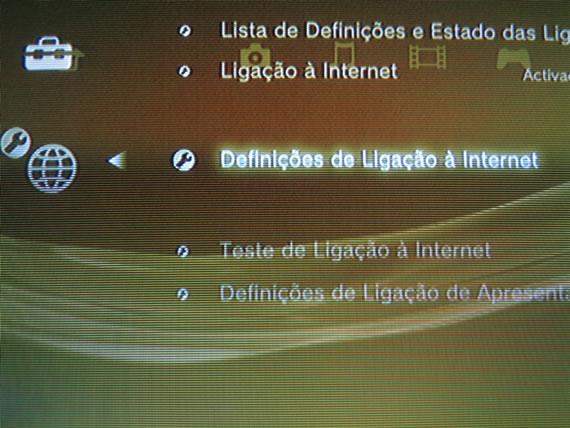 Definições de Ligação à Internet (Foto: Reprodução)