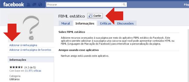 Página do FBML (Foto: Reprodução/Teresa Furtado)