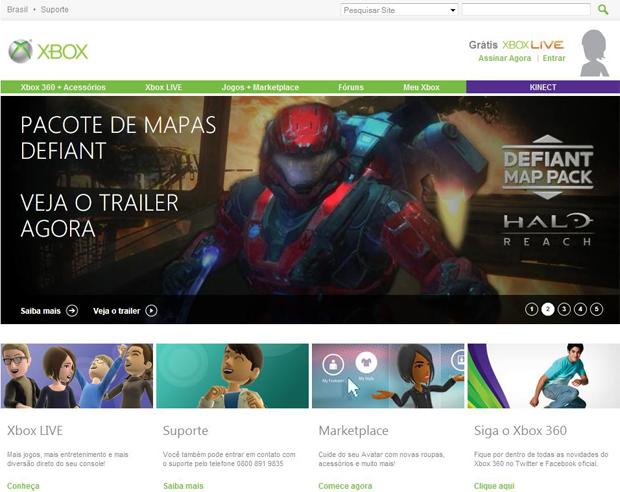 O Mercado de Jogos da Xbox Live também pode ser acessado pelo Xbox.com (Foto: Reprodução/Bruno Araujo)