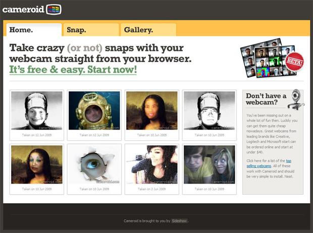 Com o Cameroid é muito fácil tirar fotos com sua webcam e aplicar efeitos de imagem (Foto: Reprodução/Bruno Araujo)