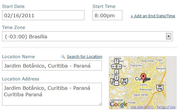 Localização (Foto: Reprodução/Camila Porto)
