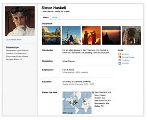 Google Profiles (Foto: Reprodução)
