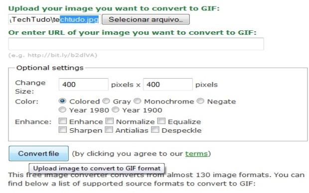 Online Converter permite mudanças na proporção da imagem, por exemplo (Foto: Reprodução/Fox Xavier)