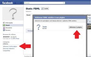 Adicione o aplicativo FBML Estático à sua Fan Page (Foto: Reprodução/Katia Resende)