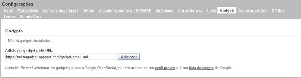 Acrescentando a URL (Foto: Reprodução/Gustavo Ribeiro)