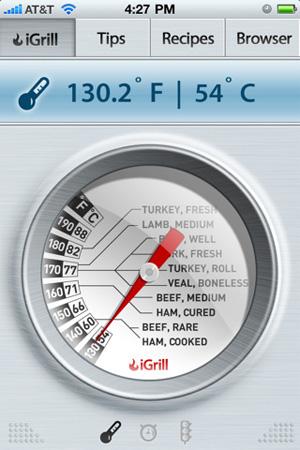 Aplicativo iGrill (Foto: Divulgação)