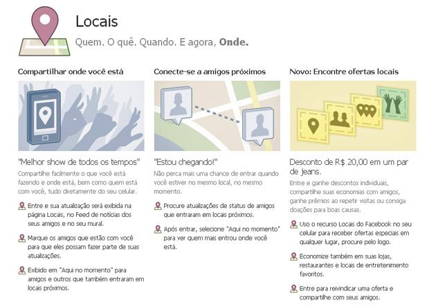 Facebook Locais, o FourSquare da rede social (Foto: Reprodução)