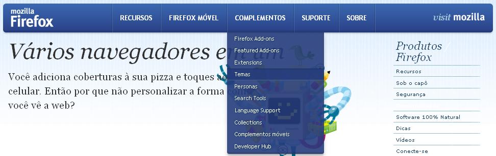 Personalização do Firefox (Foto: Reprodução/TechTudo)