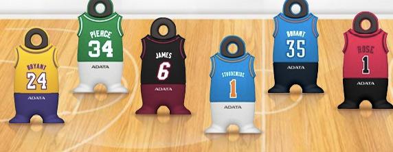 Pendrives da NBA. (Foto: Divulgação)