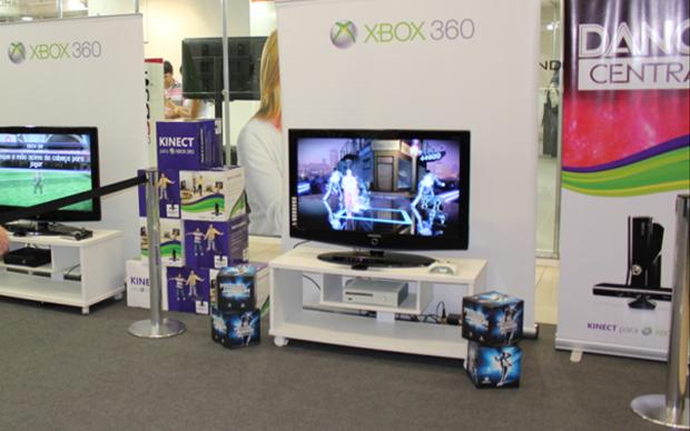 Stand da Microsoft (Foto: Diego Borges / TechTudo)