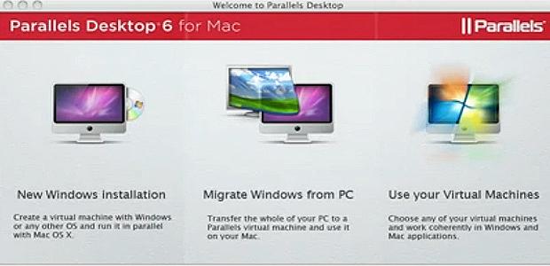 Tela inicial para a instalação de um novo sistema operacional por meio do Parallels Desktop (Foto: Reprodução)