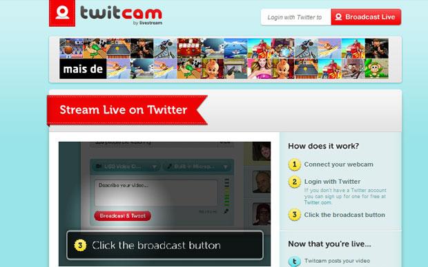 Use a Twitcam para criar sessões de vídeos e interaja com seus amigos (Foto: Reprodução)