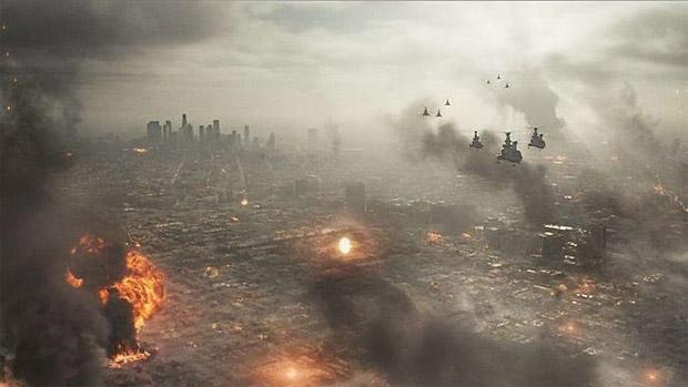 Cena do filme Batalha de Los Angeles (Foto: Divulgação/Sony Pictures)