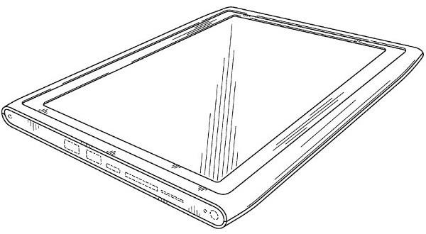 Design do suposto tablet da Nokia registrado na agência de patenteamento dos EUA. (Foto: USPTO)