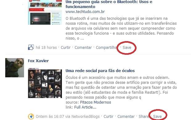 Link novo adicionado as páginas da rede social (Foto: Reprodução/Fox Xavier)