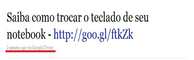 Tuite publicado pelo aplicativo (Foto: Reprodução/FoxXavier)