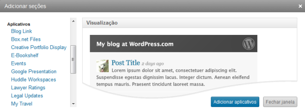 Integrar blog do Wordpress (Foto: Reprodução/Camila Porto)