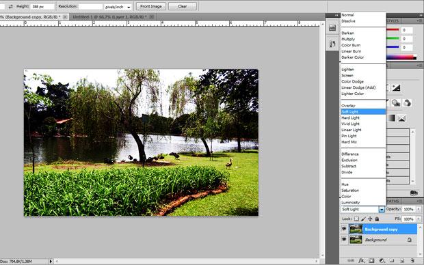 Blend com Soft Light não precisa ter um nível de Opacity muito forte (Foto: Reprodução/Felipe Held)