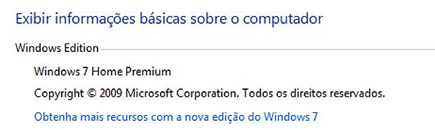 Imagem mostra Windows 7 ainda desatualizado (Foto: Reprodução)